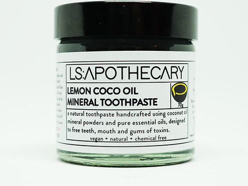 Natural Mineral Rich Lemon Essential Oil Toothpaste