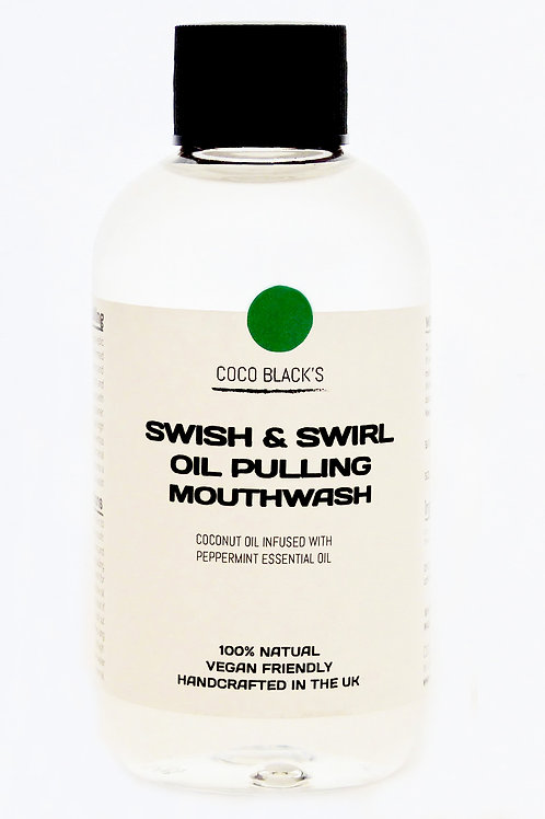 MINT SWISH &SWIRL COCONUT OIL PULLING MOUTHWASH (250ml)