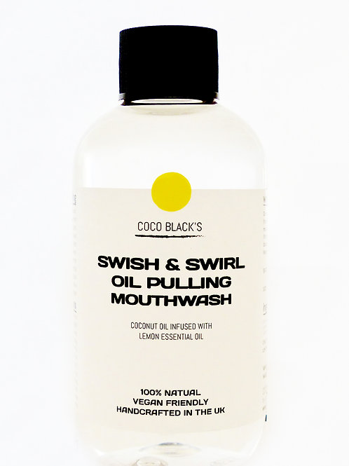 LEMON SWISH & SWIRL COCONUT OIL PULLING MOUTHWASH (100ml)