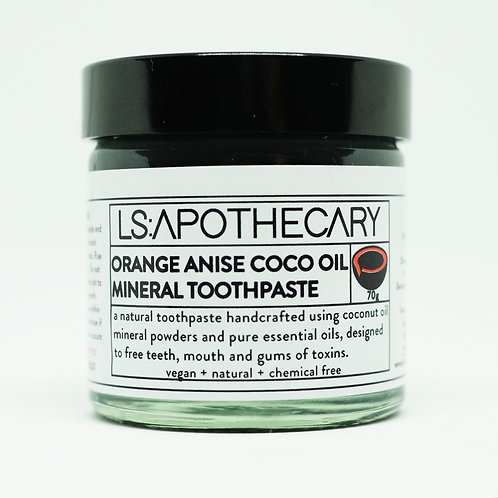 Natural Mineral Rich Orange Anise Essential Oil Toothpaste