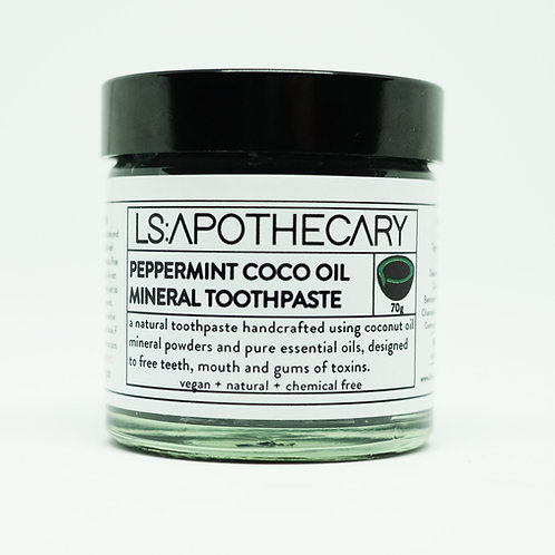 Natural Mineral Rich Peppermint Essential Oil Toothpaste