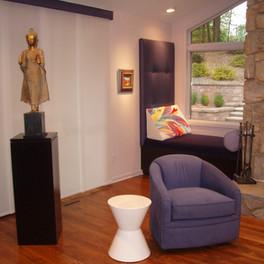 Contemporary family room.