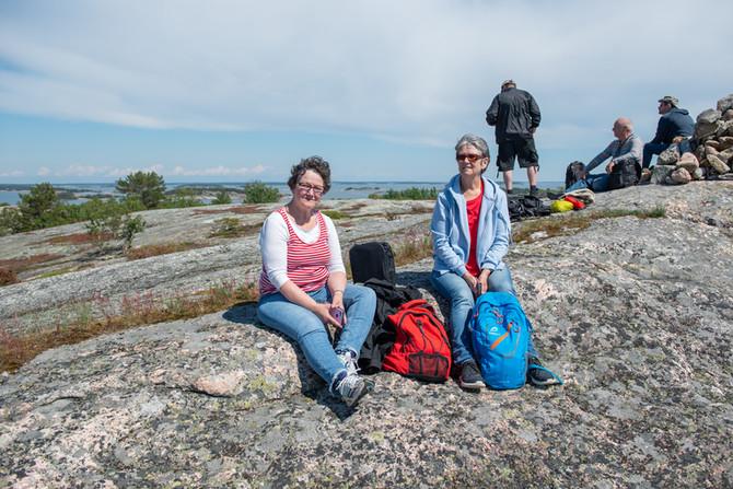 Maisemat ja sää palkitsi retkeilijät Berghamnissa
