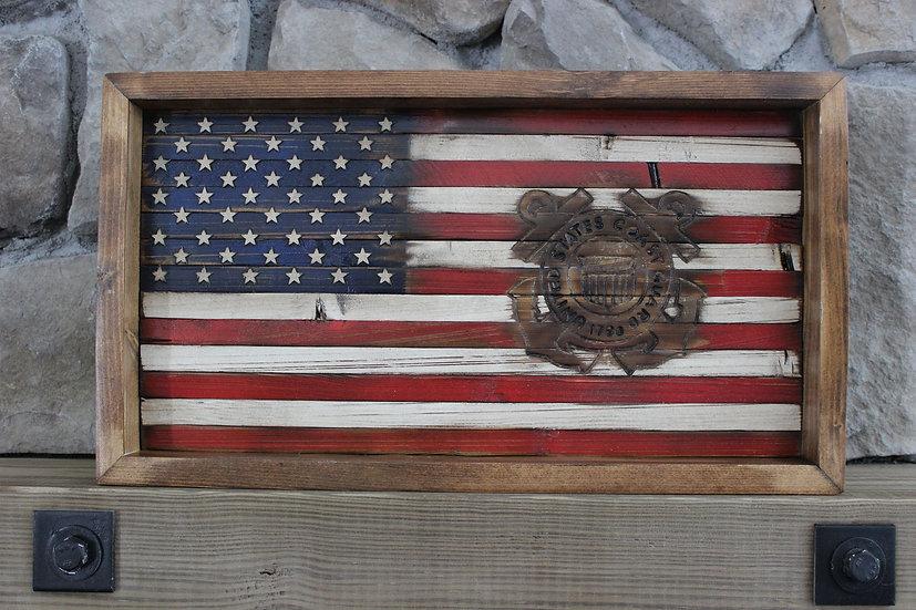 AMERICAN COAST GUARD FLAT FLAG