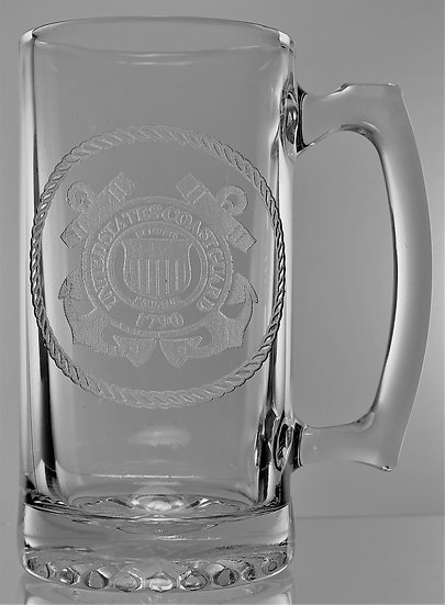 U.S. COAST GUARD SEAL BEER MUG (26oz.)