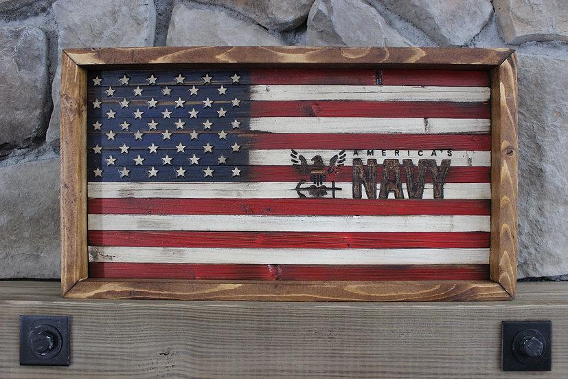 AMERICAN NAVY FLAT FLAG