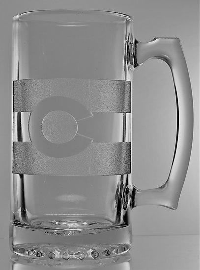 COLORADO STATE FLAG BEER MUG (26 oz.)