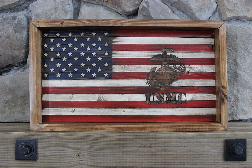 AMERICAN MARINE FLAT FLAG