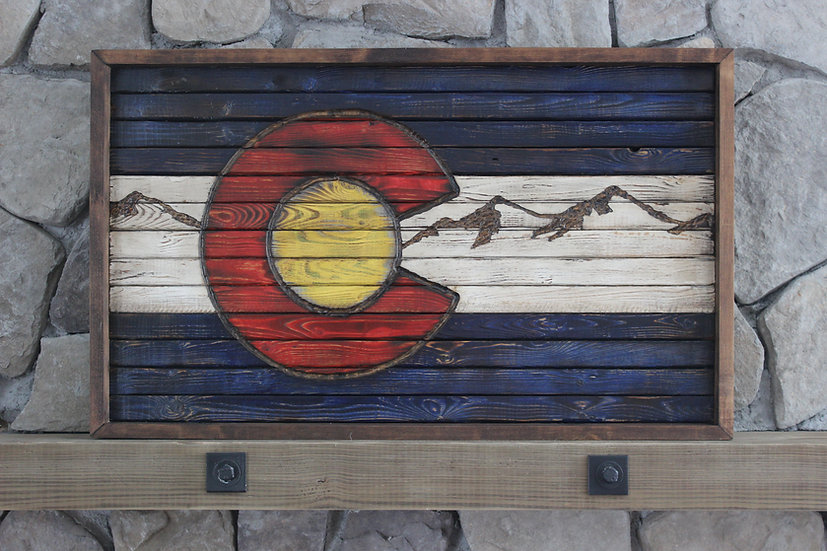 COLORADO STATE ROCKY MOUNTAIN FLAT FLAG