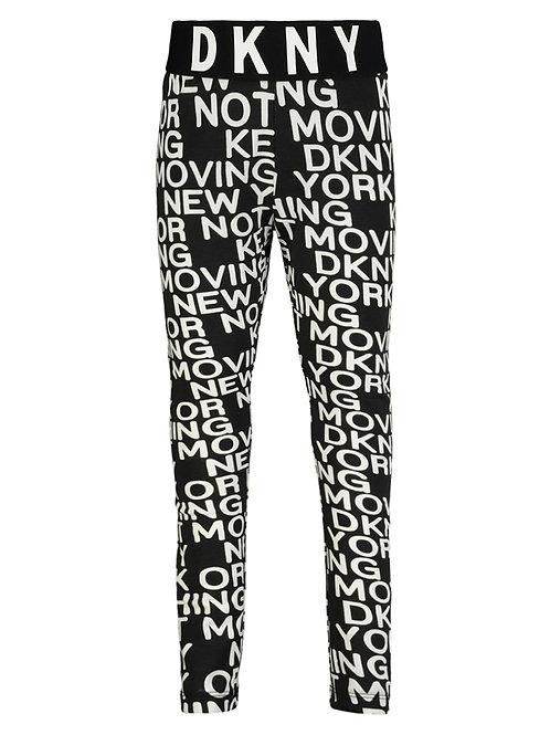 DKNY tracksuit pants black white