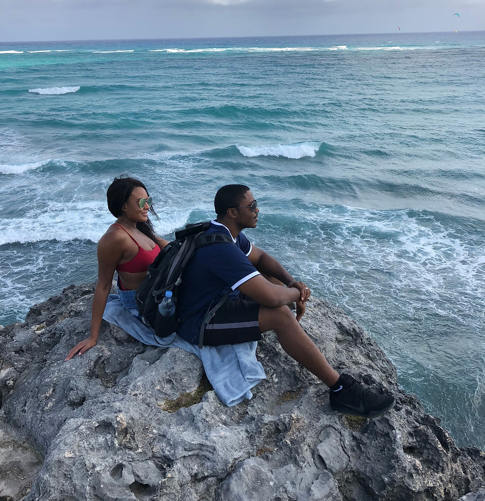 Barbados, coupes travel, romance, vacation, Caribbean travels, beach, flamingos, couples travel blog, married couples blog, black travel bloggers, travel vlog, things to do barbados