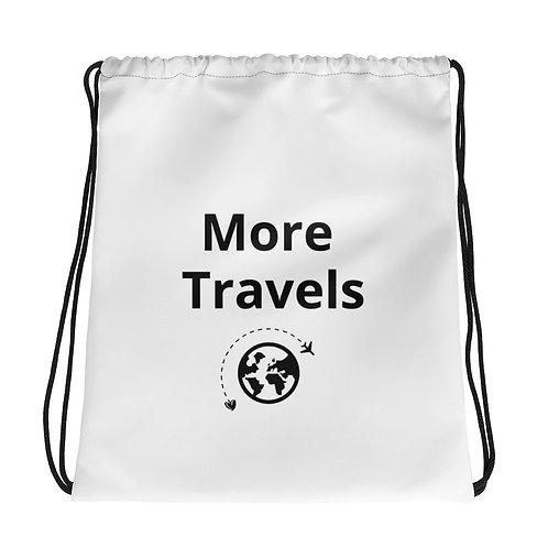 """More Travels"" Drawstring bag"