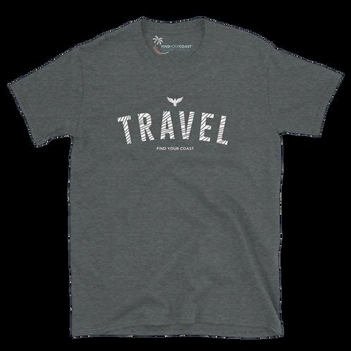 Men's Find Your Coast Travel Short-Sleeve Heather Grey Tee Shirt