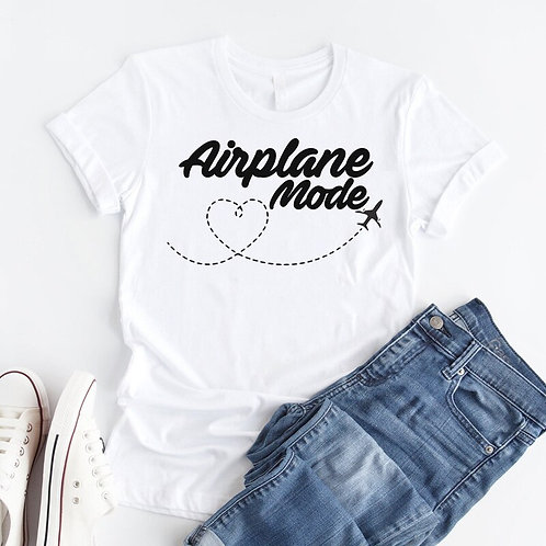 Airplane Mode  - Traveler Adventure - Cotton Casual Women T-shirt