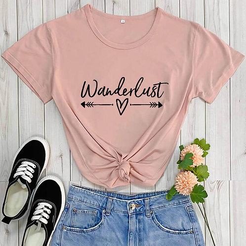 Wanderlust  - Traveler Adventure - Cotton Casual Women T-shirt