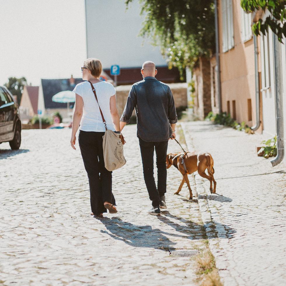 Paarfotos Sommer Hund