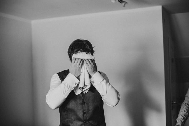 Hochzeitsfoto Reportage Bräutigam