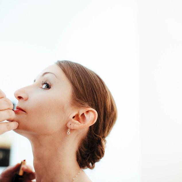 Hochzeitsfoto detail getting ready