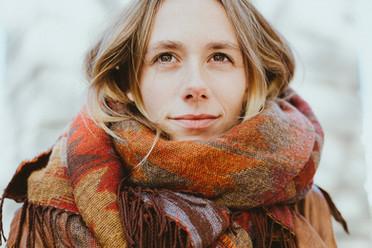 Porträt Herbst outdoor