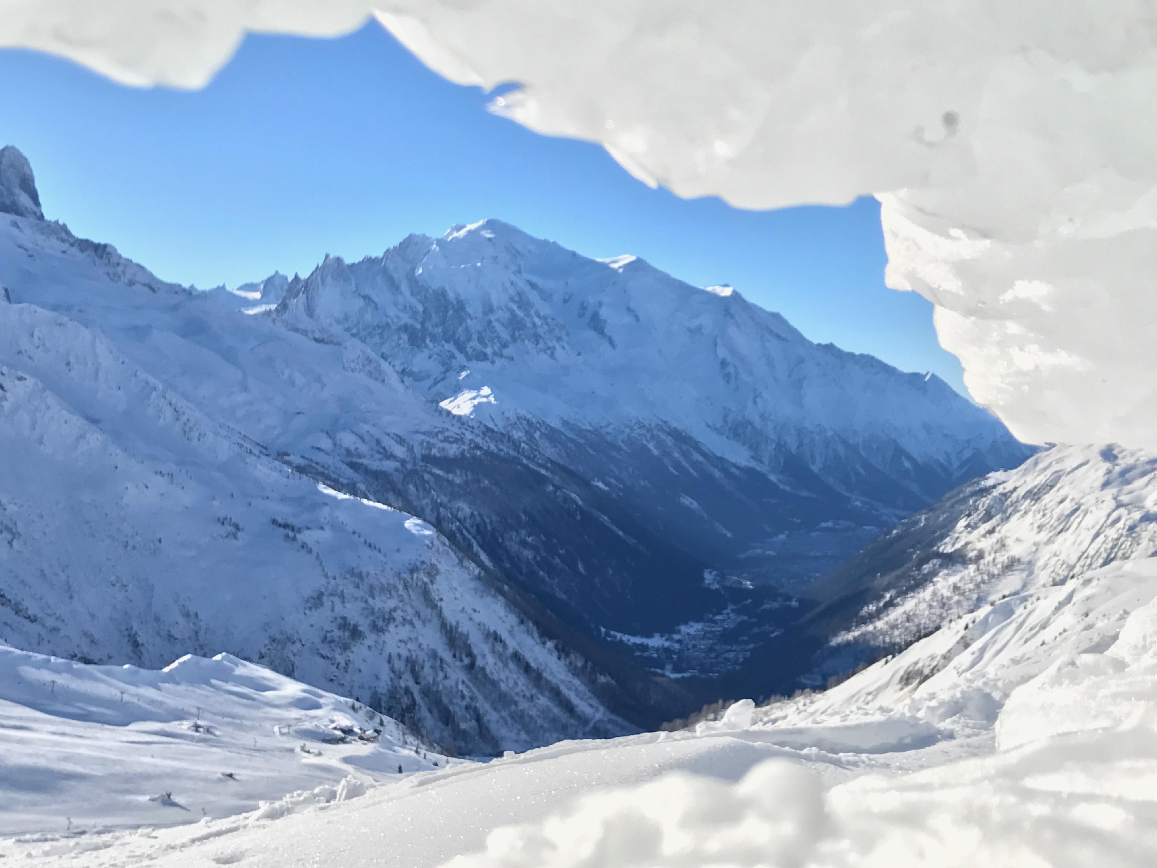 -blanc depuis l'aiguille du midi