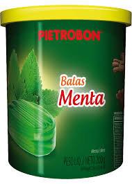 Bala Menta pote s/papel 200g Pietrobon