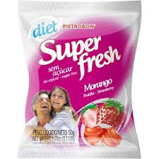 Bala Super Fresh Diet Morango 50g Pietrobon
