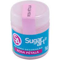 Pó para Decoração Rosa Petala 3g Sugar Art