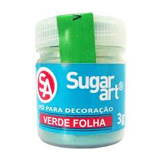 Pó para DecoraçãoVerde Folha 3g Sugar Art