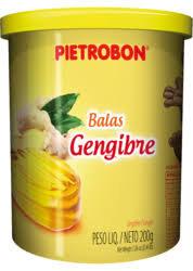 Bala Gengibre Pote s/Papel 200g Pietrobon