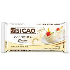 Cobertura Chocolate Branco 1,01kg Blocos Sicao