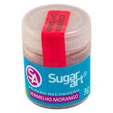 Pó para Decoração Vermelho Morango 3g Sugar Art