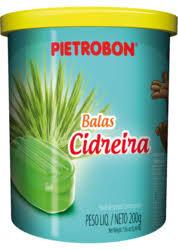 Bala Cidreira Pote s/papel 200g Pietrobon
