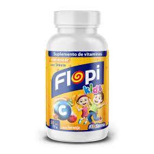 SuplementodeVitaminas Flopi Kids Gelatina Vit C 75g Florestal