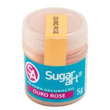 Pó para Decoração Rose Gold 5g Sugar Art