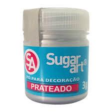 Pó para Decoração Prateado 3g Sugar Art