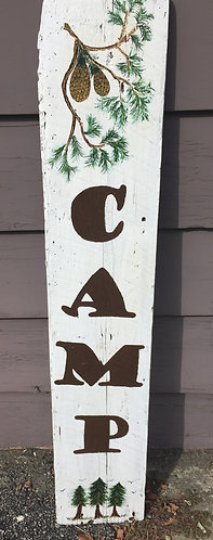 Camp Sign - Barnwood