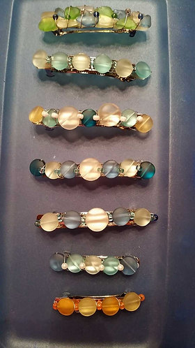 Beach Glass Barrettes