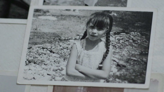 Maite as a young girl