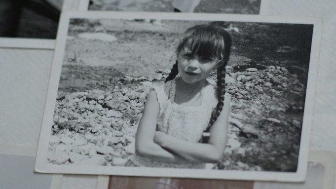 Maite as a young girl