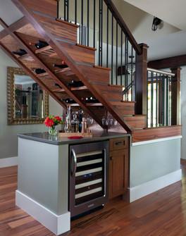 Grove, combination stairs/wine storage