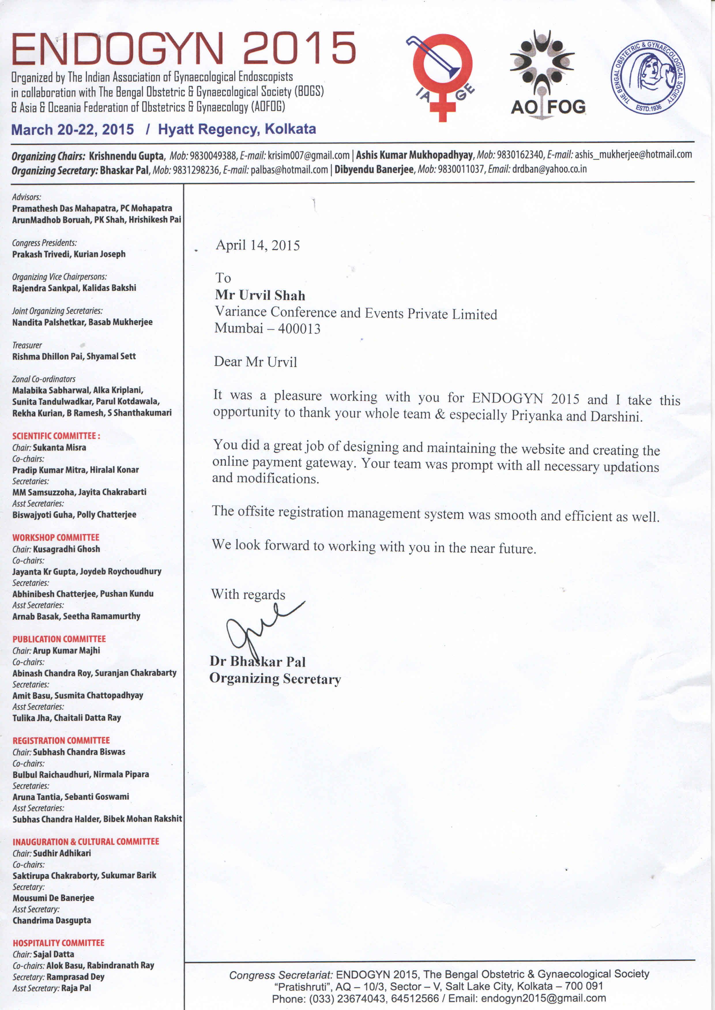 Dr. Bhaskar Pal - Endogyn 2015