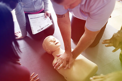 Group of people CPR First Aid training c