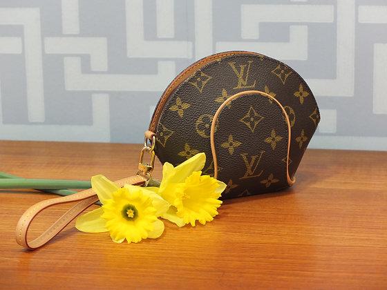 Pochette Louis Vuitton Ellipse en toile monogrammée et cuir naturel