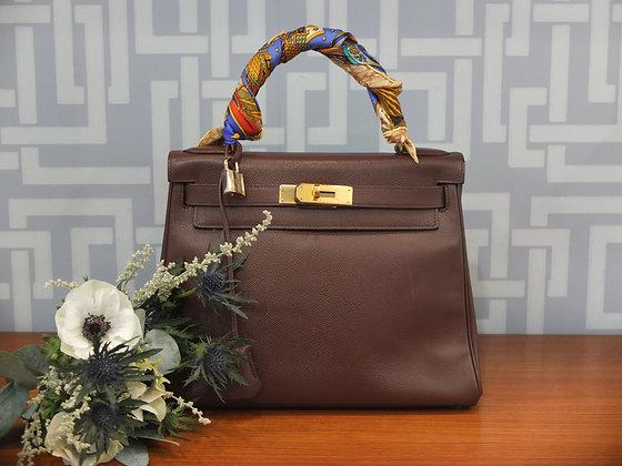 Sac à main Hermès – Kelly 28 en cuir epsom