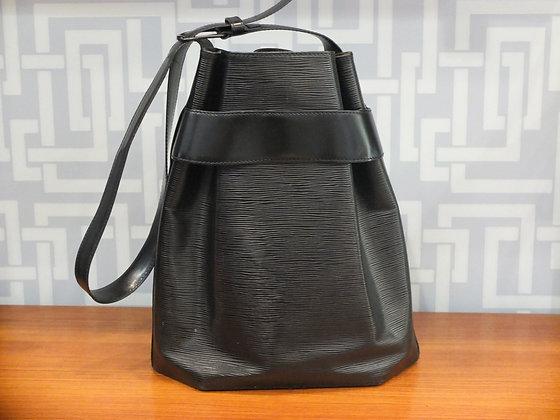Sac à main Louis Vuitton en cuir épi noir