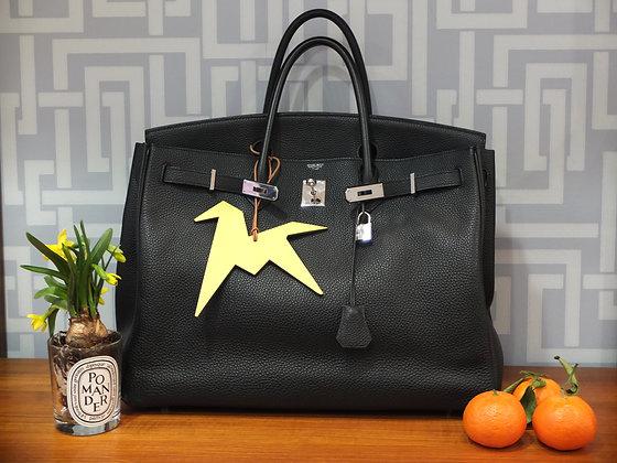 Sac à main Hermès Birkin en cuir noir