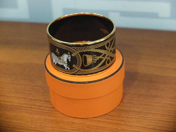 Bracelet Hermès – Modèle en émail extra large 4 cm
