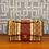 Thumbnail: Sac à main Chanel - Classique en toile coton et lin rayée multicolore