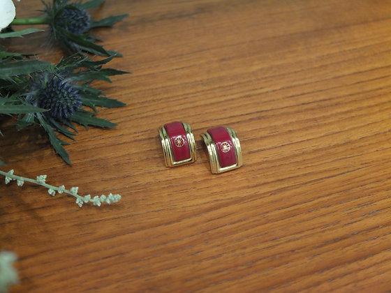 Boucles d'oreilles Hermès en émail
