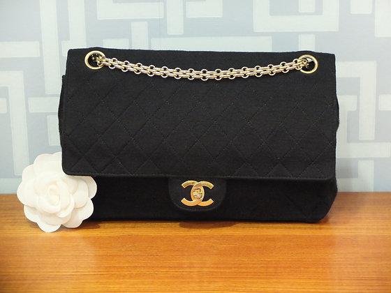 Sac à main Chanel - modèle classique en jersey noir